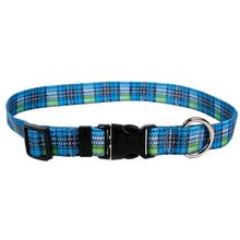 Highland Plaid Dog Collar by Yellow Dog - Blue
