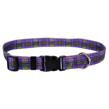 Highland Plaid Dog Collar by Yellow Dog - Purple