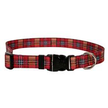 Highland Plaid Dog Collar by Yellow Dog - Red