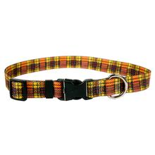 Highland Plaid Dog Collar by Yellow Dog - Yellow