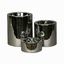 High-Rise Nickel-Plated Dog Feeder Bowl by Unleashed Life