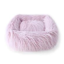 Himalayan Yak Dog Bed by Hello Doggie - Blush