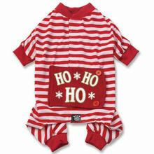 Ho Ho Ho Dog Pajamas - Red/White