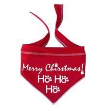 HO HO HO Merry Christmas Dog Bandana Scarf - Red