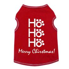 HO HO HO Merry Christmas Dog Tank - Red