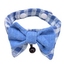 Hobbes Cat Shirt Collar and Bow Tie by Catspia - Blue