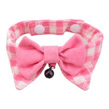 Hobbes Cat Shirt Collar and Bow Tie by Catspia - Pink
