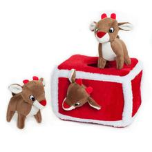 Holiday Burrow Dog Toy - Reindeer Pen
