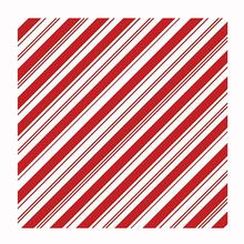 Holiday Candy Stripe Dog Bandana - Red and White