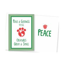 Holiday Greeting Card by Dog Speak - Peace and Goodwill to All