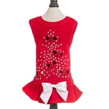 Holiday Sparkle Dog Dress by Hello Doggie - Red
