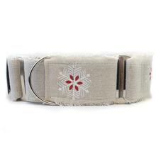 Holiday Wide Martingale Dog Collar by Diva Dog - Vintage Noel