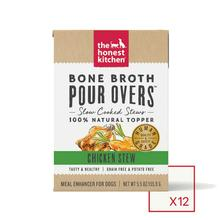 The Honest Kitchen Bone Broth Pour Overs Wet Dog Food Topper - Chicken Stew