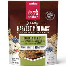 The Honest Kitchen Jerky Harvest Mini Bars Dog Treats - Chicken Recipe with Apples & Blueberries