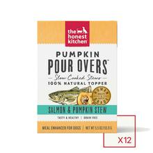 The Honest Kitchen Pumpkin Pour Overs Wet Dog Food Topper - Salmon & Pumpkin Stew