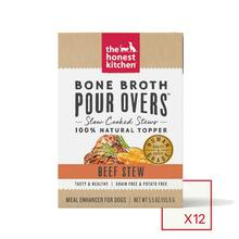 The Honest Kitchen Bone Broth Pour Overs Wet Dog Food Topper - Beef Stew