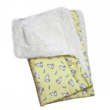 Hopping Bunny Flannel Ultra-Plush Dog Blanket by Klippo