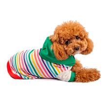 Hot Dogz Rainbow Verde Dog Hoodie