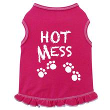 Hot Mess Dog Tank Dress by I See Spot - Hot Pink