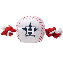 Houston Astros Nylon Plush Baseball Rope Dog Toy