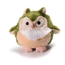 Howling Hoots Dog Toy - Green