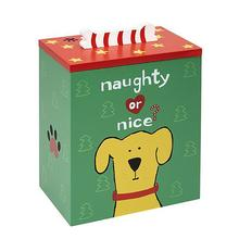 Naughty or Nice Hand Painted Dog Treat Box by Up Country