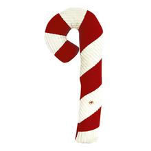 HuggleHounds Corduroy Holiday Candy Cane Dog Toy