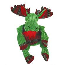 HuggleHounds Green Holiday Moose Knottie Dog Toy