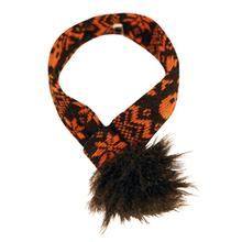 Hugglehounds Halloween Dog Scarf - Black and Orange