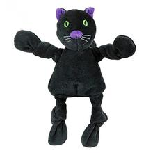 HuggleHounds Halloween Knottie Dog Toy - Black Cat