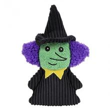 HuggleHounds Halloween Plush Treat Dog Toy - Witch