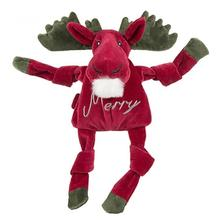 HuggleHounds Holiday Knottie Dog Toy - Merry Moose