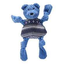 HuggleHounds Holiday Knottie Dog Toy - Hanukkah Bear with Sweater