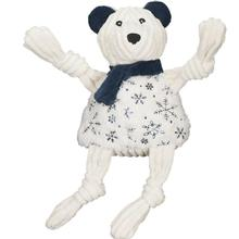 HuggleHounds Holiday Sparkle n' Shine Knottie Dog Toy - Bear