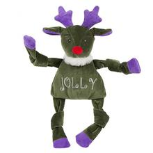 HuggleHounds Holiday Knottie Dog Toy - Jolly Reindeer