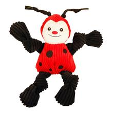 HuggleHounds Knotties in the Garden Dog Toy - Ladybug