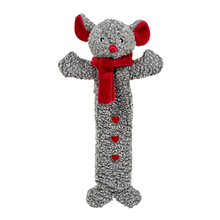 Hugglehounds Long & Lovely Holiday Mouse Dog Toy
