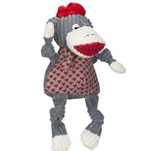 HuggleHounds Knottie Dog Toy - Jean Claude Sock Monkey
