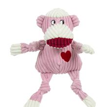 HuggleHounds Ms. Sock Monkey Knottie Dog Toy