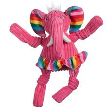 HuggleHounds Rainbow Knottie Dog Toy - Elephant