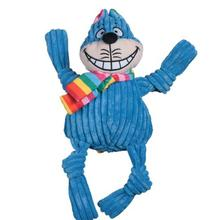 HuggleHounds Rainbow Knottie Dog Toy - Cheshire Cat