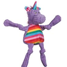 HuggleHounds Rainbow Knottie Dog Toy - Unicorn