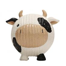 HuggleHounds Ruff-Tex Dog Toy - Cow