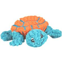 HuggleHounds Ruff-Tex Dude the Turtle Dog Toy - Teal & Orange