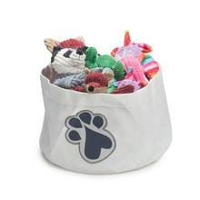 HuggleHounds Sail Cloth Dog Toy Bin