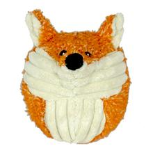 HuggleHounds Woodland Squooshie Ball Dog Toy - Foxy