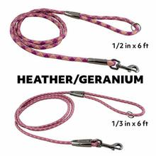Hurtta Casual Rope Dog Leash - Heather/Geranium