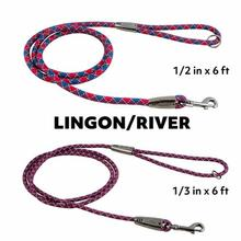 Hurtta Casual Rope Dog Leash - Lingon/River