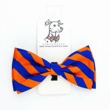 Huxley & Kent Orville Dog Bow Tie Collar Attachment - Blue & Orange Stripe