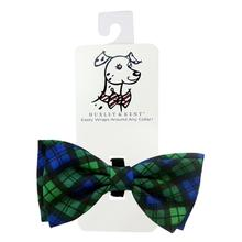 Huxley & Kent Pet Bow Tie Collar Attachment - Blackwatch Plaid